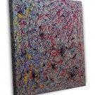 Jackson Pollock Fine Art 20x16 Framed Canvas Print
