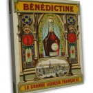Vintage French Benedictine Liqueur 20x16 Framed Canvas Print