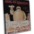 Vintage French Michelin Art 20x16 Framed Canvas Print