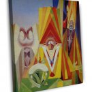Max Ernst Feast Of The God Fine Art 20x16 Framed Canvas Print