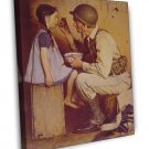 Norman Rockwell The American Way Fine Art 20x16 Framed Canvas Print