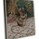 Beatrix Potter The Mice At Work Fine Art 20x16 Framed Canvas Print