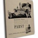 Vintage Pabst Beer Ad Art 20x16 Framed Canvas Print