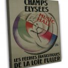 Vintage French Champs Elysees 20x16 Framed Canvas Print