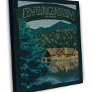 Vintage Evergreen Colorado Park Wpa Art 20x16 Framed Canvas Print