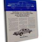 Vintage Mercedes Benz A450 Se Car Ad Art 20x16 Framed Canvas Print