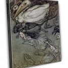 Arthur Rackham Alice In Wonderland Ii Fine Art 20x16 Framed Canvas Print