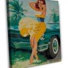 Bill Medcalf PIN UP Girl Art 20x16 Framed Canvas Print