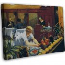 Edward Hopper Tables For Ladies Fine Art 20x16 Framed Canvas Print