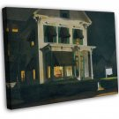 Edward Hopper Rooms For Tourists Fine Art 20x16 Framed Canvas Print