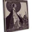 Harry Clarke Poe Tales Of Mystery And Imagination Fine Art 20x16 Framed Canvas P