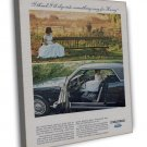 Vintage Ford Mustang Car Ad Art 20x16 Framed Canvas Print