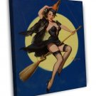 Gil Elvgren PIN UP Girl Art 20x16 Framed Canvas Print