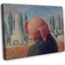 Rene Magritte A Stroke Of Luck Fine Art 20x16 Framed Canvas Print