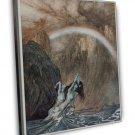 Arthur Rackham Rhines Children Bewailing Lost Gold Fine Art 20x16 Framed Canvas