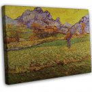 Van Gogh A Meadow In The Mountains Le Mas De SAINT PAUL 20x16 Framed Canvas Prin