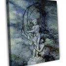 Arthur Rackham The Little Mermaid Fine Art 20x16 Framed Canvas Print