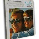 Vintage RAY BAN Ad Art 20x16 Framed Canvas Print