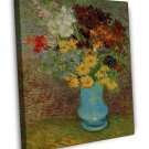 Van Gogh Vase With Daisies And Anemones 20x16 Framed Canvas Print
