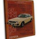 Vintage Toyota Corolla Ad Art 20x16 Framed Canvas Print