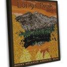 Vintage Longs Peak Park Wpa Art 20x16 Framed Canvas Print