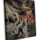 Arthur Rackham Rhinegold And The Valkyries Fine Art 20x16 Framed Canvas Print