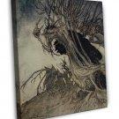 Arthur Rackham Shapes And Beckoning Shadows Fine Art 20x16 Framed Canvas Print