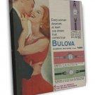 Vintage Bulova Watches Ad Art 20x16 Framed Canvas Print