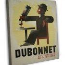 French Dubonnet Vintage Art 20x16 Framed Canvas Print