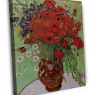 Van Gogh Still Life Red Poppies And Daisies 20x16 Framed Canvas Print