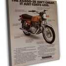 Vintage Yamaha XS400 2E Motorcycle Ad Art 20x16 Framed Canvas Print