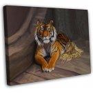 Tiger Cat Image 20x16 Framed Canvas Print