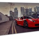 Ferrari 488 Gtb Sports Car Image 20x16 Framed Canvas Print