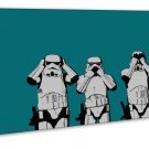 Star Wars Speak No Evil See No Evil Hear No Evil Image 20x16 Framed Canvas Print