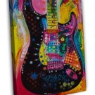 Psychedelic Music Guitar Art Image 20x16 Framed Canvas Print