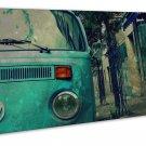 Kombi Van Retro Image 20x16 Framed Canvas Print