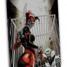 Catwoman Harley Quinn Poison Ivy Art 16x12 FRAMED CANVAS Print Decor