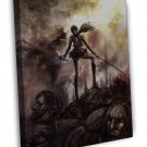 Attack On Titan Hot Japan Anime Art 16x12 FRAMED CANVAS Print Decor