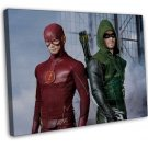 The Flash Arrow Tv Show Art 16x12 Framed Canvas Print Decor