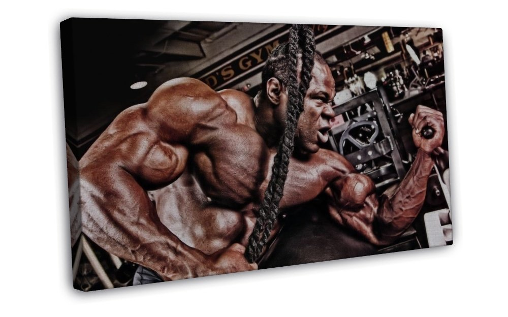 Kai greene muscle man art 16x12 framed canvas print decor for Kai greene painting