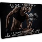 Sexy Girl Bodybuilding Motivational Art 16x12 FRAMED CANVAS Print Decor