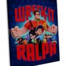 Wreck It Ralph The Popular Movie Art 16x12 Framed Canvas Print Decor