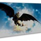 How To Train Your Dragon 1 2 Hot Movie Art 16x12 FRAMED CANVAS Print Decor
