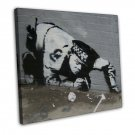Banksy Street Art Canvas Art 16x12 Framed Canvas Print Decor