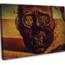 Salvador Dali The Face Of War Art 16x12 Framed Canvas Print Decor