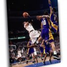 Allen Iverson Philadelphia 76ers Sixers Shot  20x16 FRAMED CANVAS WALL PRINT
