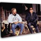 Terminator Arnold Schwarzenegger Behind the Scenes  20x16 FRAMED CANVAS WALL PRINT