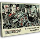 Robocop 1987 Movie Characters Awesome Art  20x16 FRAMED CANVAS WALL PRINT