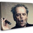 Jack Nicholson Portrait Cigar Hair Amazing Actor WALL FRAMED CANVAS PRINT 20x16 inch