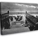 D-Day Omaha Beach Normandy Landings Invasion War WALL  20x16 FRAMED CANVAS PRINT